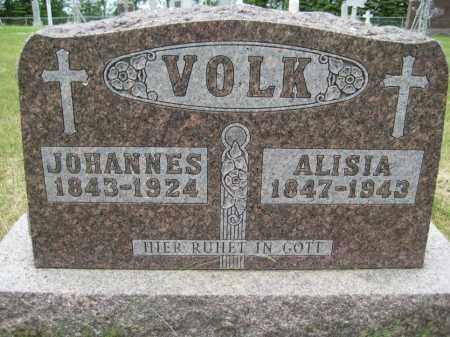 VOLK, ALICIA ELIZABETH - Pierce County, North Dakota | ALICIA ELIZABETH VOLK - North Dakota Gravestone Photos