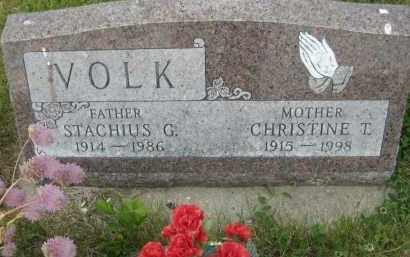 VOLK, CHRISTINE TERESA - Pierce County, North Dakota | CHRISTINE TERESA VOLK - North Dakota Gravestone Photos