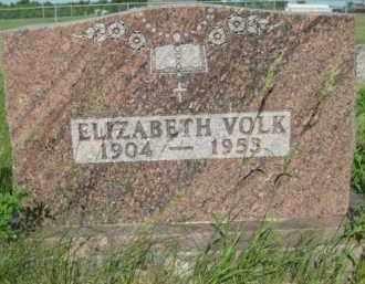 VOLK, ELIZABETH - Pierce County, North Dakota | ELIZABETH VOLK - North Dakota Gravestone Photos