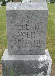 VOLK, FABEAN - Pierce County, North Dakota   FABEAN VOLK - North Dakota Gravestone Photos