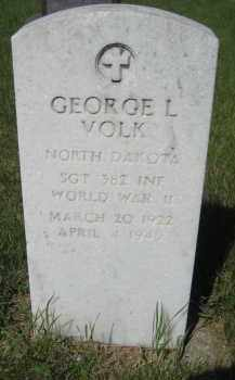 VOLK, GEORGE L - Pierce County, North Dakota | GEORGE L VOLK - North Dakota Gravestone Photos