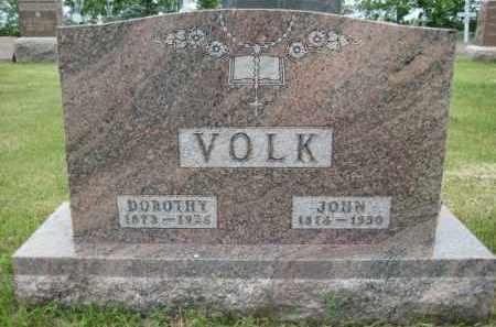 VOLK, JOHANNES - Pierce County, North Dakota | JOHANNES VOLK - North Dakota Gravestone Photos