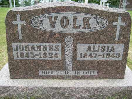 VOLK, JOHANNES EDMUND - Pierce County, North Dakota | JOHANNES EDMUND VOLK - North Dakota Gravestone Photos