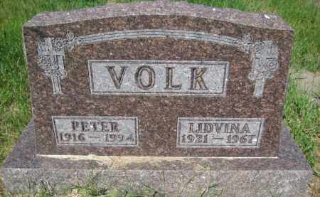 VOLK, LIDVINA CATHERINE - Pierce County, North Dakota | LIDVINA CATHERINE VOLK - North Dakota Gravestone Photos