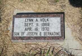 VOLK, LYNN A - Pierce County, North Dakota | LYNN A VOLK - North Dakota Gravestone Photos