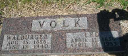 VOLK, LEO - Pierce County, North Dakota | LEO VOLK - North Dakota Gravestone Photos