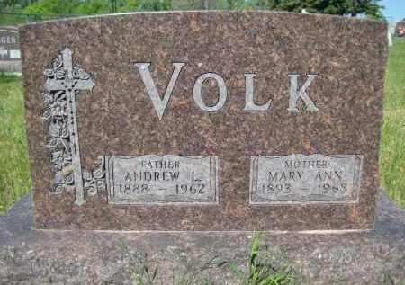 VOLK, MARY ANNA - Pierce County, North Dakota | MARY ANNA VOLK - North Dakota Gravestone Photos
