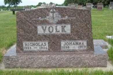 VOLK, NICHOLAS - Pierce County, North Dakota | NICHOLAS VOLK - North Dakota Gravestone Photos