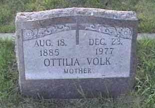 VOLK, OTTILIA - Pierce County, North Dakota   OTTILIA VOLK - North Dakota Gravestone Photos