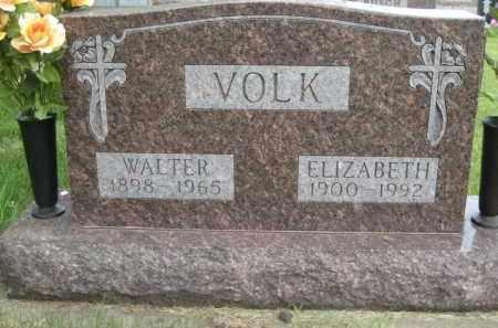 VOLK, WALTER V - Pierce County, North Dakota   WALTER V VOLK - North Dakota Gravestone Photos