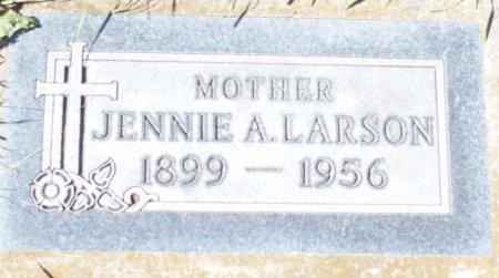 GAASLAND LARSON, JENNIE A - Ransom County, North Dakota | JENNIE A GAASLAND LARSON - North Dakota Gravestone Photos