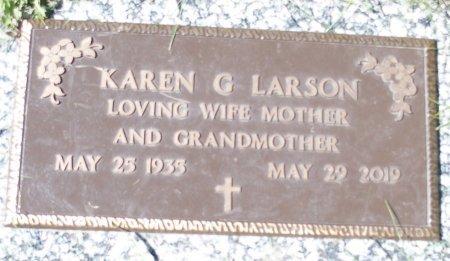 SWENSON LARSON, KAREN G - Ransom County, North Dakota | KAREN G SWENSON LARSON - North Dakota Gravestone Photos