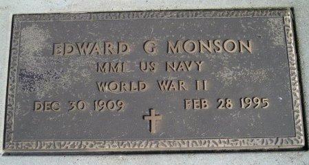 MONSON, EDWARD G - Ransom County, North Dakota   EDWARD G MONSON - North Dakota Gravestone Photos