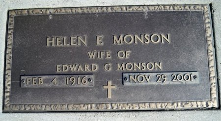 MONSON, HELEN E - Ransom County, North Dakota | HELEN E MONSON - North Dakota Gravestone Photos
