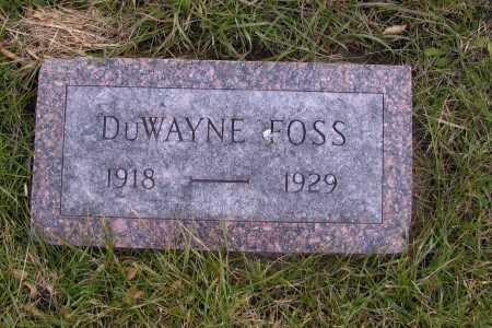 FOSS, DUWAYNE - Richland County, North Dakota | DUWAYNE FOSS - North Dakota Gravestone Photos