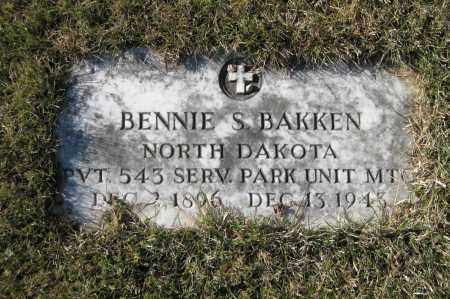 BAKKEN, BENNIE S. - Richland County, North Dakota | BENNIE S. BAKKEN - North Dakota Gravestone Photos