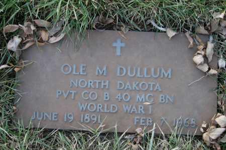 DULLUM, OLE M. - Richland County, North Dakota | OLE M. DULLUM - North Dakota Gravestone Photos