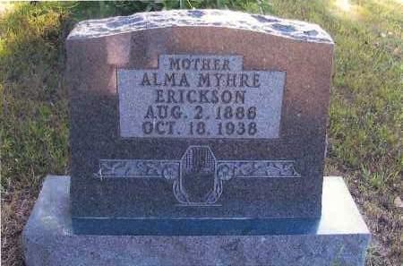 ERICKSON, ALMA MYHRE - Richland County, North Dakota   ALMA MYHRE ERICKSON - North Dakota Gravestone Photos