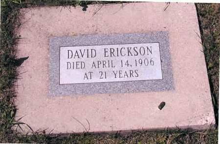 ERICKSON, DAVID - Richland County, North Dakota | DAVID ERICKSON - North Dakota Gravestone Photos