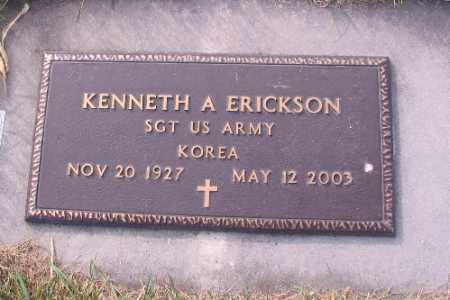 ERICKSON, KENNETH A. - Richland County, North Dakota | KENNETH A. ERICKSON - North Dakota Gravestone Photos