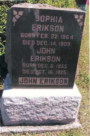 ERICKSON, JOHN - Richland County, North Dakota | JOHN ERICKSON - North Dakota Gravestone Photos
