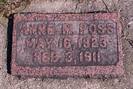 FOSS, ANNE M. - Richland County, North Dakota   ANNE M. FOSS - North Dakota Gravestone Photos