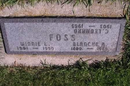 FOSS, WINNIE L. - Richland County, North Dakota | WINNIE L. FOSS - North Dakota Gravestone Photos
