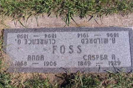 FOSS, CASPER R. - Richland County, North Dakota | CASPER R. FOSS - North Dakota Gravestone Photos