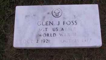 FOSS, GLEN J. - Richland County, North Dakota | GLEN J. FOSS - North Dakota Gravestone Photos