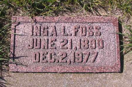 FOSS, INGA L. - Richland County, North Dakota   INGA L. FOSS - North Dakota Gravestone Photos