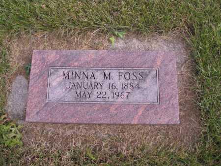 FOSS, MINNA M. - Richland County, North Dakota | MINNA M. FOSS - North Dakota Gravestone Photos