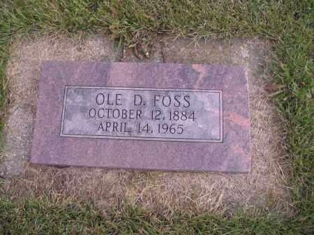 FOSS, OLE D. - Richland County, North Dakota | OLE D. FOSS - North Dakota Gravestone Photos