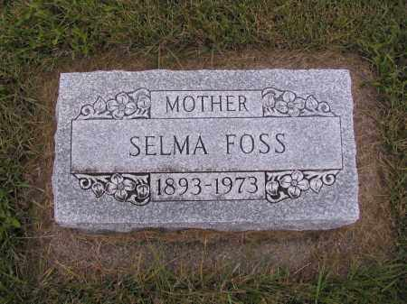 FOSS, SELMA - Richland County, North Dakota   SELMA FOSS - North Dakota Gravestone Photos