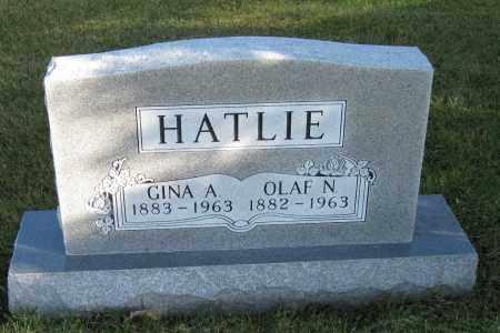 HATLIE, OLAF  N. - Richland County, North Dakota   OLAF  N. HATLIE - North Dakota Gravestone Photos