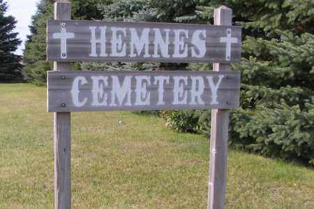 HEMNES CEMETERY, SIGN - Richland County, North Dakota | SIGN HEMNES CEMETERY - North Dakota Gravestone Photos