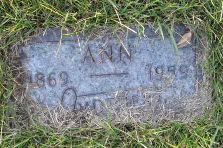 JACOBSON, ANN - Richland County, North Dakota   ANN JACOBSON - North Dakota Gravestone Photos