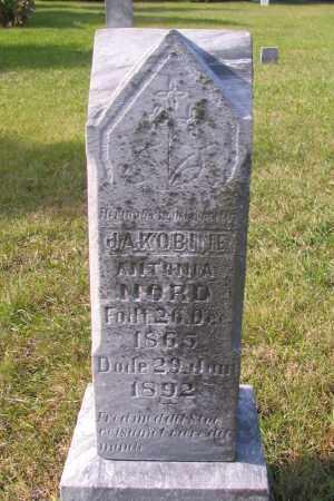 JAKOBINE, ANTONIA - Richland County, North Dakota | ANTONIA JAKOBINE - North Dakota Gravestone Photos