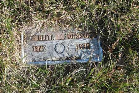 JOHNSON, BRITA - Richland County, North Dakota | BRITA JOHNSON - North Dakota Gravestone Photos