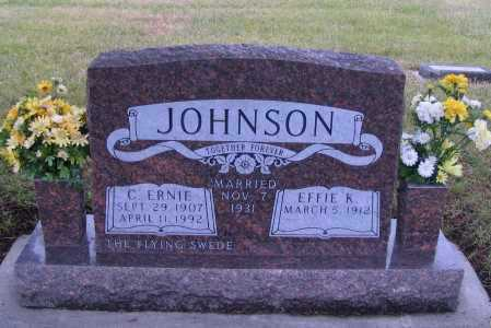 JOHNSON, C. ERNIE - Richland County, North Dakota | C. ERNIE JOHNSON - North Dakota Gravestone Photos