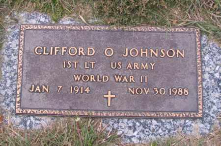 JOHNSON, CLIFFORD O. - Richland County, North Dakota | CLIFFORD O. JOHNSON - North Dakota Gravestone Photos