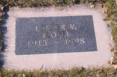 JOHNSON, ESTHER W. - Richland County, North Dakota   ESTHER W. JOHNSON - North Dakota Gravestone Photos