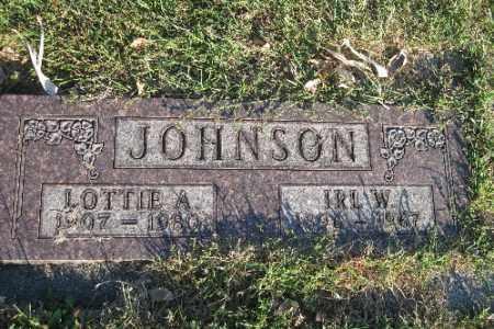 JOHNSON, LOTTIE A. - Richland County, North Dakota | LOTTIE A. JOHNSON - North Dakota Gravestone Photos