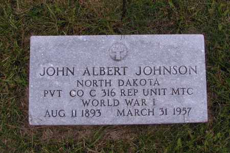 JOHNSON, JOHN ALBERT - Richland County, North Dakota | JOHN ALBERT JOHNSON - North Dakota Gravestone Photos