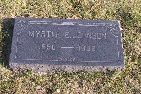 JOHNSON, MYRTLE E. - Richland County, North Dakota | MYRTLE E. JOHNSON - North Dakota Gravestone Photos