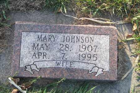 JOHNSON, MARY - Richland County, North Dakota | MARY JOHNSON - North Dakota Gravestone Photos