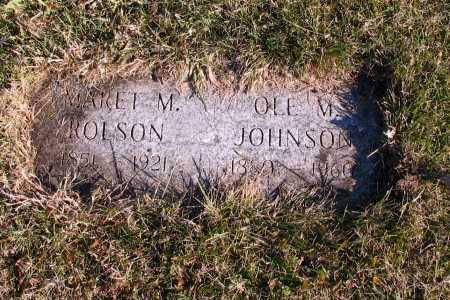 JOHNSON, OLE M. - Richland County, North Dakota | OLE M. JOHNSON - North Dakota Gravestone Photos