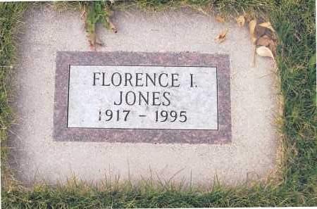 JONES, FLORENCE I. - Richland County, North Dakota | FLORENCE I. JONES - North Dakota Gravestone Photos