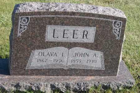 LEER, JOHN A. - Richland County, North Dakota | JOHN A. LEER - North Dakota Gravestone Photos