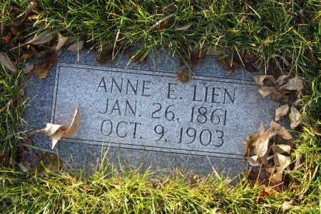 LIEN, ANNE E. - Richland County, North Dakota   ANNE E. LIEN - North Dakota Gravestone Photos