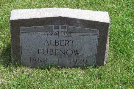LUBENOW, ALBERT - Richland County, North Dakota | ALBERT LUBENOW - North Dakota Gravestone Photos